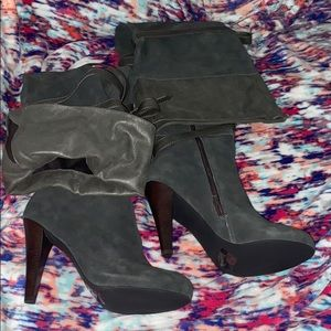 Gray Thigh High Colin Stuart Boots